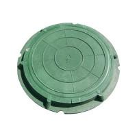 Люк садовый зелёный (полимер)