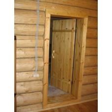 Дверь входная с коробкой (сосна)